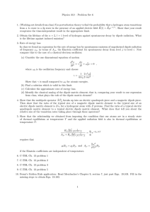 Physics 312 – Problem Set 6