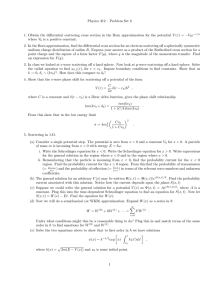Physics 312 – Problem Set 8
