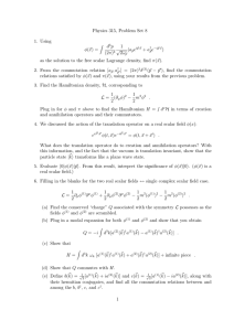 Physics 315, Problem Set 8 1. Using d p
