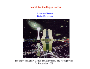 Search for the Higgs Boson 24 December 2008 Ashutosh Kotwal