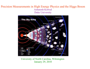 Precision Measurements in High Energy Physics and the Higgs Boson