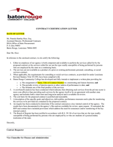 CONTRACT CERTIFICATION LETTER