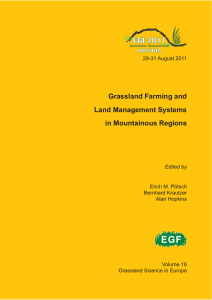 Grassland Farming and Land Management Systems in Mountainous Regions
