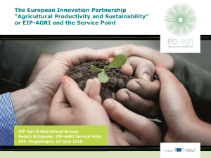 "The European Innovation Partnership ""Agricultural Productivity and Sustainability"""