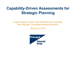 Capability-Driven Assessments for Strategic Planning