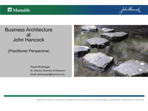 Business Architecture at John Hancock