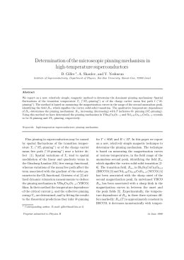 Determination of the microscopic pinning mechanism in high-temperature superconductors D. Giller