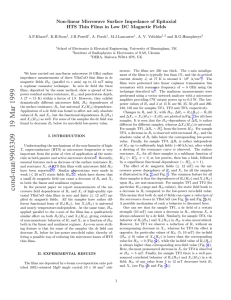 Non-linear Microwave Surface Impedance of Epitaxial A.P.Kharel , K.H.Soon