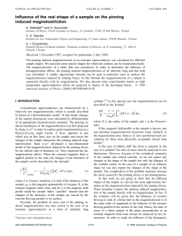 Influence of the real shape of a sample on the... induced magnetostriction