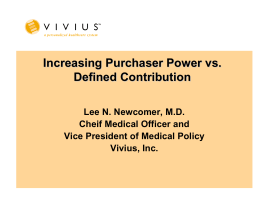 Increasing Purchaser Power vs . Defined Contribution