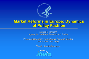 Market Reforms in Europe: Dynamics of Policy Fashion