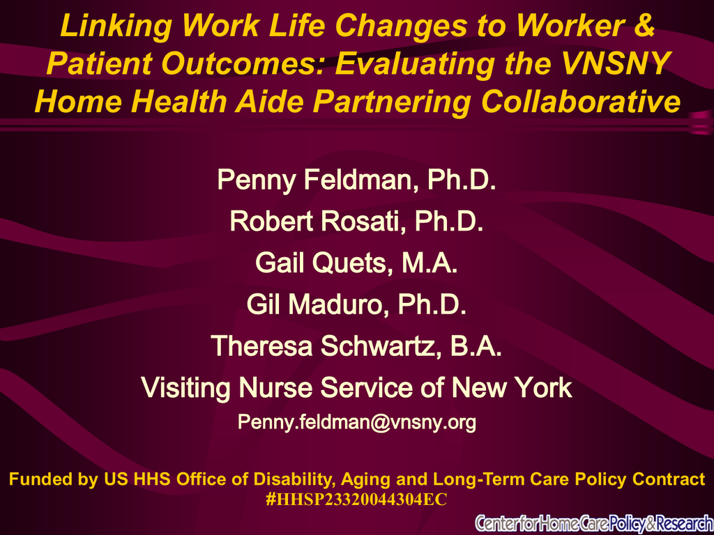 Linking Work Life Changes To Worker