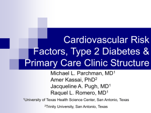 Cardiovascular Risk Factors, Type 2 Diabetes & Primary Care Clinic Structure