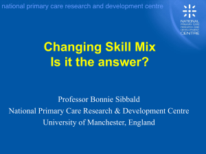 Changing Skill Mix Is it the answer?