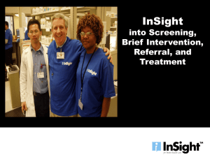 InSight into Screening, Brief Intervention, Referral, and