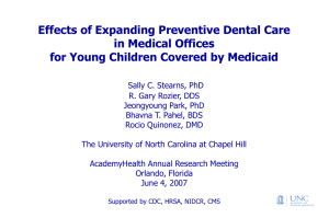 Effects of Expanding Preventive Dental Care in Medical Offices