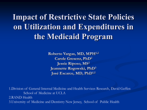 Impact of Restrictive State Policies on Utilization and Expenditures in