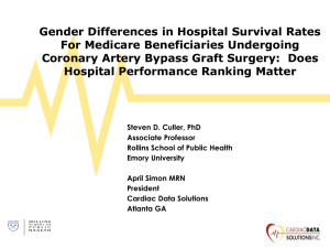 Gender Differences in Hospital Survival Rates For Medicare Beneficiaries Undergoing