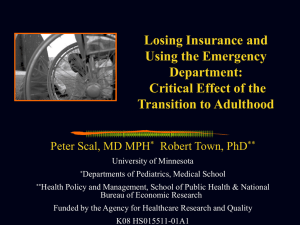 Losing Insurance and Using the Emergency Department: Critical Effect of the