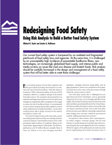 Redesigning Food Safety