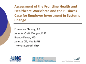 Assessment of the Frontline Health and Healthcare Workforce and the Business