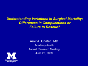Understanding Variations in Surgical Mortality: Differences in Complications or Failure to Rescue?