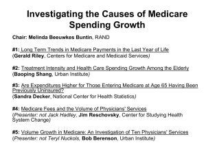 Investigating the Causes of Medicare Spending Growth