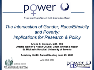 The Intersection of Gender, Race/Ethnicity and Poverty: Implications for Research & Policy