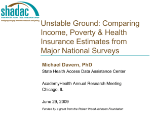 Unstable Ground: Comparing Income, Poverty & Health Insurance Estimates from Major National Surveys