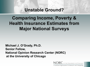Unstable Ground? Comparing Income, Poverty & Health Insurance Estimates from Major National Surveys