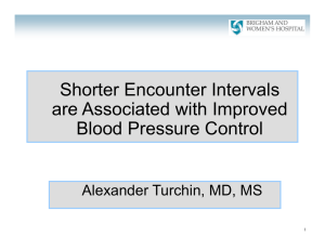 Shorter Encounter Intervals are Associated with Improved Blood Pressure Control