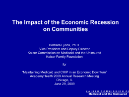 The Impact of the Economic Recession on Communities