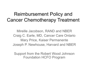 Reimbursement Policy and Cancer Chemotherapy Treatment