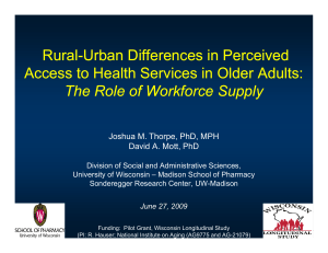 Rural Rural--Urban Differences in Perceived Urban Differences in Perceived