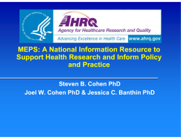 MEPS: A National Information Resource to
