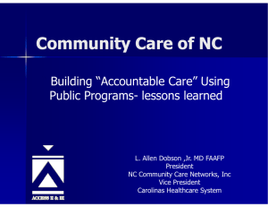 "Community Care of NC "" B ildi ""A"