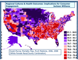 Regional Cultures & Health Outcomes: Implications for Consumer Engagement. Jackson Williams