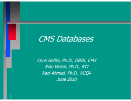 CMS Databases