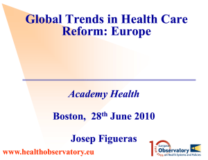 Global Trends in Health Care