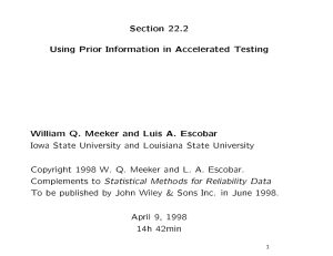 Section 22.2 Using Prior Information in Accelerated Testing