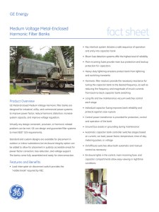 fact sheet GE Energy Medium Voltage Metal-Enclosed Harmonic Filter Banks