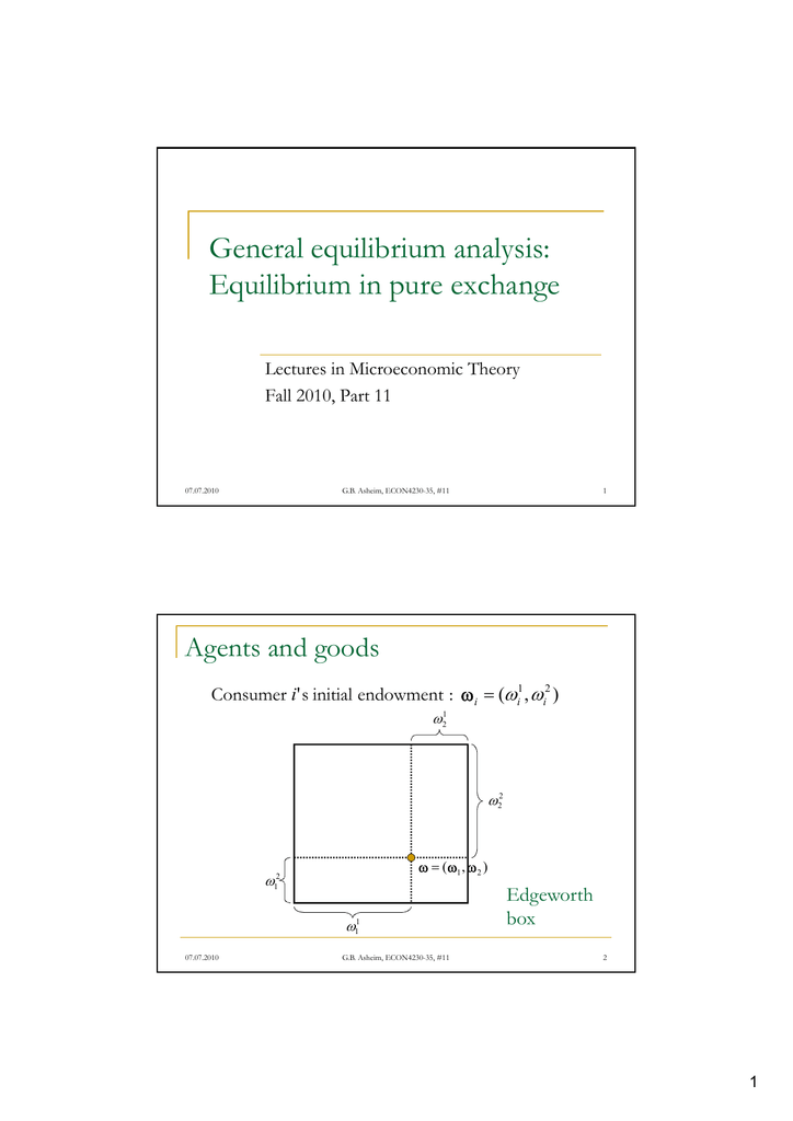 general equilibrium analysis a microeconomic text