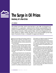 The Surge in Oil Prices Anatomy of a Non-Crisis