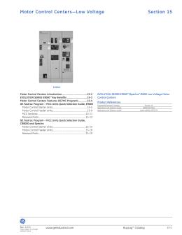 Aftermarket Catalog Ge Industrial Solutions
