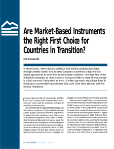 Are Market-Based Instruments the Right First Choice for Countries in Transition?