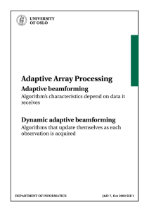 Modeling and Simulation of Adaptive Beamforming for Mobile