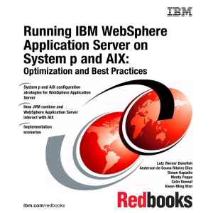 Running IBM WebSphere Application Server on System p and AIX: