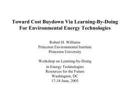 Toward Cost Buydown Via Learning-By-Doing For Environmental Energy Technologies