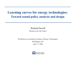 Learning curves for energy technologies: Toward sound policy analysis and design
