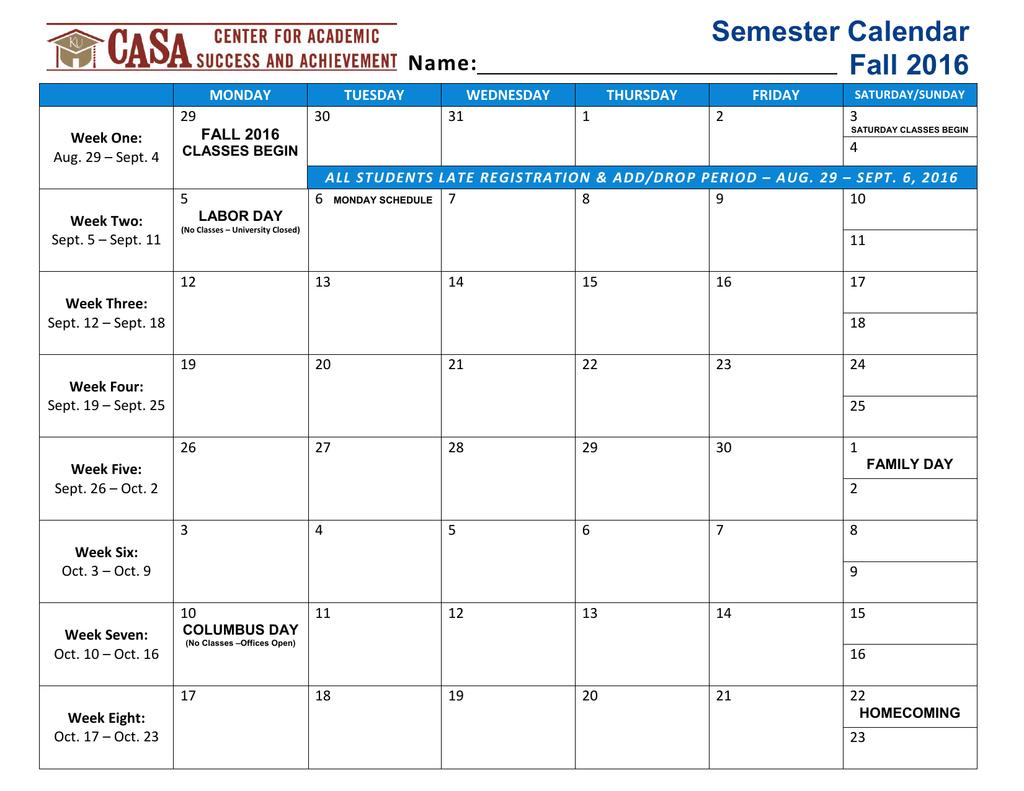 Wcsu Academic Calendar.Name